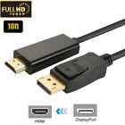 Display port DP to hdmi displayport to hdmi cable adapter 1080P 3/6/10/15ft