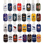 NFL LOGO METAL DOG TAG DOGTAG WITH 4 INCH KEYCHAIN OR 21 INCH NECKLACE on eBay