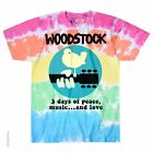 WOODSTOCK-BANDED-3 DAYS PEACE,MUSIC,LOVE-TIE DYE T SHIRT S,M,L,XL,2X,3X,4X,5X,6X image