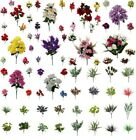 Artificial Fake Flowers Leaves Bunch Bouquet Greenery Foliage Leaf Roses