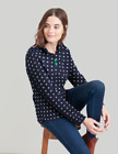 Joules  Fairdale Print Ladies Sweatshirt   Colour  FRENCH NAVY  SPOT