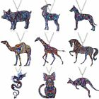 Fashion Women Thermal Transfer Printing Animal Cat Dog Pendant Necklace Jewelry