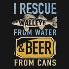 Buck Wear 2487 I Rescue Walleye Fishing Hunting T Shirt Men's M - 2XLShirts & Tops - 177874