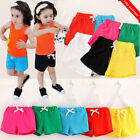 Kids Toddler Baby Boy Girl Summer Beach Shorts Short Pants Casual Trousers 3-8Ys