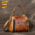 Kyпить Retro Women Genuine Leather Handbag Embossed Flower Shoulder Crossbody Bag Purse на еВаy.соm
