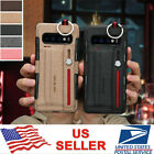 For Samsung Note 10 Plus S10e Canvas Card Wallet Strap Stand Hybrid Case Cover
