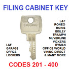 Filing Cabinet Spare Key L&F, Roneo, Ronis, Bisley, Triumph, Silverline, Vickers £2.25 GBP on eBay