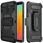 For Samsung Galaxy J8 2018 Robust Rugged Holster Clip Cover Case