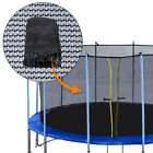 Replacement 10/12/15/16' Trampoline Net Inner Safety Net without Pole Black image