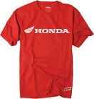 Factory Effex Licensed Honda Horizontal T-Shirt Red Mens All Sizes image
