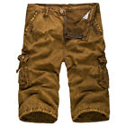Men Military Army Cargo Shorts Summer Outdoor Multi Pockets Combat Workout Pants