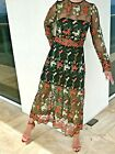 VONE Ivonne Magdalena 6 8 10 Tulle Embroidered Floral Midi Dress Anthropologie