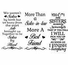 Sister  Sister In Law Vinyl Decal Sticker Suitable For Wine Bottle And More.