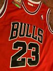 Michael Jordan Chicago Bulls #23 Red and Black Throwback Mens Jersey