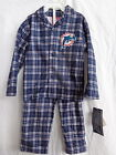 Miami Dolphins 2 Pc Flannel Pajamas 100% Polyester Flame Resistant NWT $22.99 USD on eBay
