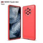 Dooqi Shockproof Armor Carbon Fiber Hybrid Brush Case For Nokia 9 PureView