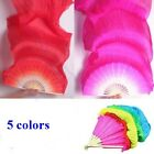 New 18m 5 Colors Hand Made Belly Dance Dancing Silk Bamboo Long Fans Veils IG