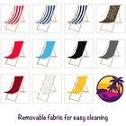 Traditional Wooden Folding Garden Beach Sea Side Deck Chairs Deckchairs Outdoor