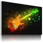 GUITAR GIRL FLAMES MIST Electric Classical Canvas Wall Art WA46 MATAGA UNFRAMED