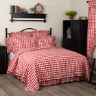 VHC Annie Buffalo RED Check Quilted Coverlet (Your Choice Size & Accessories)  image