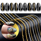 50cm Metall Nagel Chain Gold Silver Mixed Size 3D Tips Nagel Kunst Dekorations