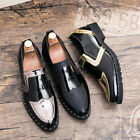 Mens Slip On Pointed Toe Pumps Flat Heels Formal Dress Shoes Loafers Muk15