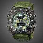 INFANTRY MENS LED DIGITAL ANALOG WRIST WATCHES MILITARY SPORT CAMO ARMY NYLON image