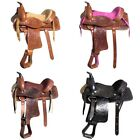 U-3-MX Kids Youth Children Miniature Pony Saddle Leather Pleasure Western