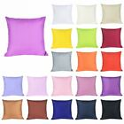 Size 40x40 Cotton Soft Solid Color Throw Pillow Sofa Waist Couch cushion image