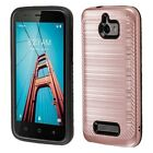 For Coolpad Defiant 3632 Brushed Hybrid Shockproof Armor Protector Case Cover