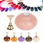 Six Colors Nail Art False Display Stand Practice Holder Magnetic Manicure