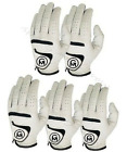 3 All Weather mens Golf Gloves White Premium Quality Cabretta Leather Left Hand