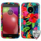 For Motorola Moto E4 TUFF Hybrid Shockproof Phone Protector Case Cover