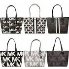 Michael Kors Jet Set Carryall Tote MK Signature Brown Vanilla Pink Black