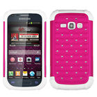 Hybrid Bling Case +Impact Silicone +Screen For Galaxy Prevail 2 M840 or Ring