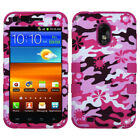 TUFF Case +Silicone +Screen Film Cover For Epic Touch 4G D710/Galaxy S2 R760