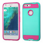 """For Google Pixel 5.0""""  Brushed Hybrid Hard Impact Armor Protector Case Cover"""