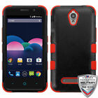 For ZTE Obsidian Natural TUFF Hybrid Shockproof Phone Protector Case Cover