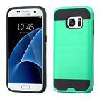 For Samsung Galaxy S7 Brushed Hybrid Impact Armor Protector Case Cover
