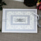 Personalised Baby Shower Guest Book - Baroque White - Personalised Custom Gue...