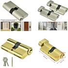 Copper Dual/Single Open Lock Cylinder Anti-theft Door Lock Cylinder with Keys