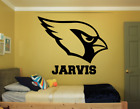 "ARIZONA CARDINALS & NAME CUSTOM WALL VINYL DECAL STICKER REMOVABLE 28x22"" colors $24.95 USD on eBay"