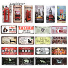 Dl- Metal Tin Sign London Vintage License Plate Bar Home Wall Art Decoration