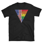 LGBTQ Gay Pride Flag American Flag 4th of July Patriotic USA Flag Unisex T Shirt