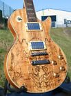 EDEL LE PAUL STANDARD* SPALTED MAPLE TOP* MASSIVER MAHAGONI BODY* GROVER TUNER