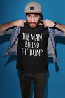 The Man Behind The Bump Mens Tshirt Funny Pregnancy Dad To Be Gift Baby Daddy