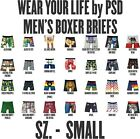 """Wear Your LIfe by PSD  MEN'S BOXER BRIEF UNDERWEAR SIZE SMALL 28-30"""" 50+ Designs"""