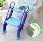 1x Adjustable Kids Toilet Seat Potty Toilet Training Seat with Step Stool Ladder image