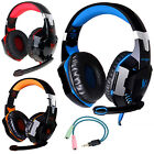 3.5mm Gaming Headset MIC LED Headphones Surround for PS3 PS4 Xbox One X 360 E PC