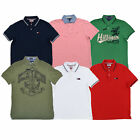 Tommy Hilfiger Mens Polo Shirt Short Sleeves Mesh Logo Classic Custom Slim New